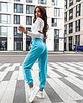 Жіночий спортивний костюм, турецька двунить, р-р 42-44; 44-46 (блакитний+білий), фото 2