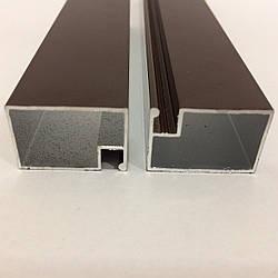Профиль москитный DL-05 дверной 17х25 RAL8017 Шоколадно-коричневый Elite (от 120м)