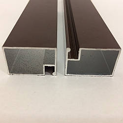 Профиль москитный дверной 17х25 RAL8017 (Шоколадно-коричневый)