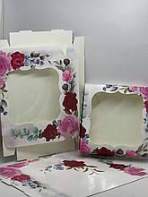 Коробка з віконцем 20*20*3 см кольорова 10шт