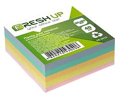Блок бумаги для заметок Fresh Up FR-3412 клееный 80*80мм Класика 400 листов