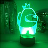 Світильник нічник Амонг Ас з Пультом Управління 16 кольорів Лампа Амонг Ас фіолетового кольору, фото 10
