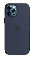 Силиконовый чехол IPhone 12 Pro Max Silicone Case with MagSafe - Deep Navy ОРИГИНАЛ