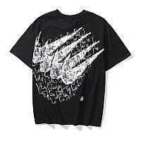 Мужская футболка Nike x Dior Найк черная летняя с принтом оверсайз стильная модная молодежная