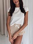 Жіноча піжама, турецький кулір, р-р 42-44; 44-46 (бежевий), фото 2