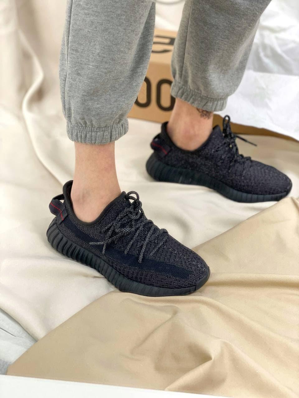 Жіночі кросівки Yeezy Boost 350 Black*(Full Ref)