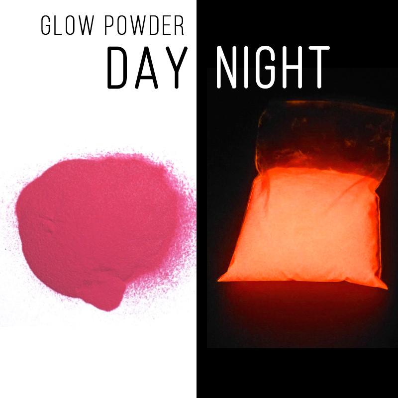 Люминофор розовый\розово-оранжевое свечение.  Уп. 30 г. Светящийся в темноте пигмент.