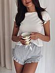 Жіноча піжама, турецький кулір, р-р 42-44; 44-46 (меланж), фото 2