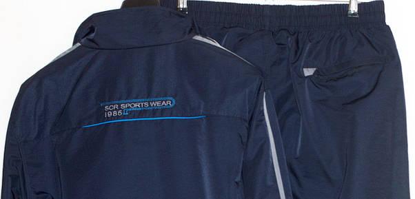 Спортивний костюм великого розміру чоловічий плащівка Soccer 2915 (3XL-4XL), фото 2