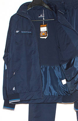Спортивний костюм великого розміру чоловічий плащівка Soccer 2915 (3XL-4XL), фото 3