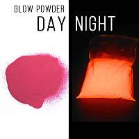 Люминофор розовый\розово-оранжевое свечение.  Уп. 100 г. Светящийся в темноте пигмент.