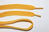 Шнурки плоские 10мм, желтый