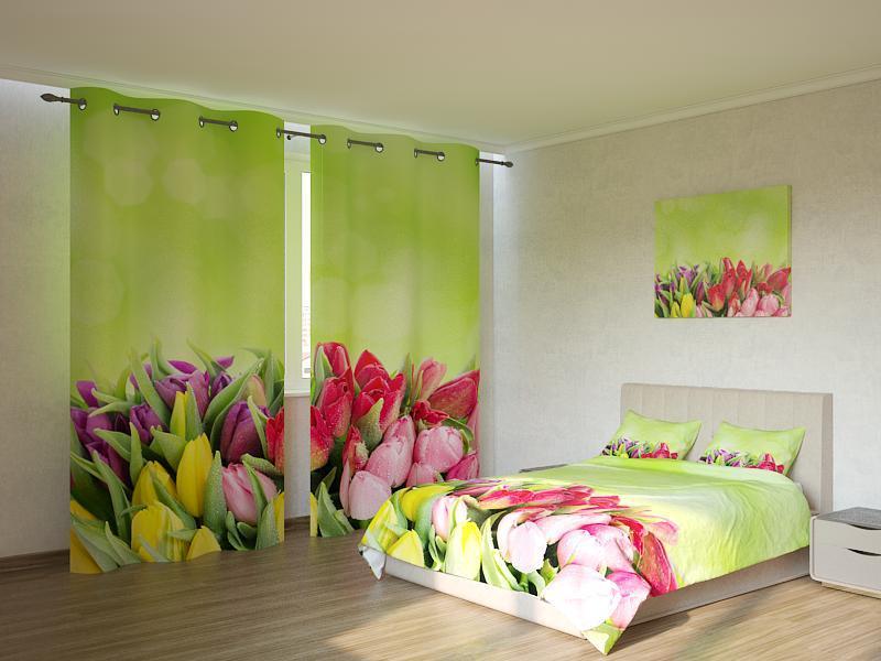 Фотокомплект  разноцветные тюльпаны