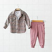 """Костюм """"Triple"""" сезон весна/літо, рожево-бордовий. Розміри від 80 до 110, фото 1"""