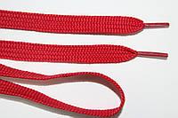 Шнурки плоские 10мм, красный