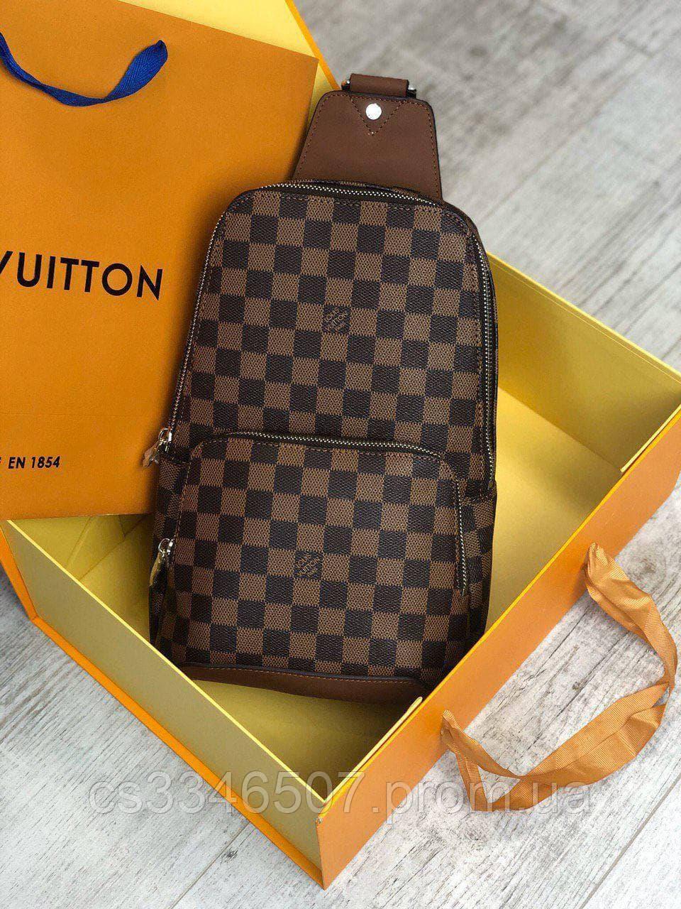 Мужская сумка слинг Louis Vuitton. Мужская бананка Луи Виттон