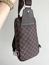Мужская сумка слинг Louis Vuitton. Мужская бананка Луи Виттон, фото 3
