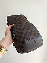 Мужская сумка слинг Louis Vuitton. Мужская бананка Луи Виттон, фото 2