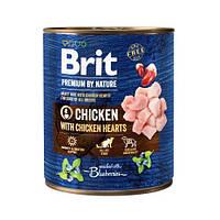 Brit Premium by Nature 800 г курица с куриным сердцем