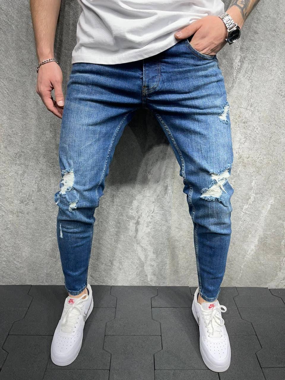 Мужские джинсы 2Y Premium 6062 blue