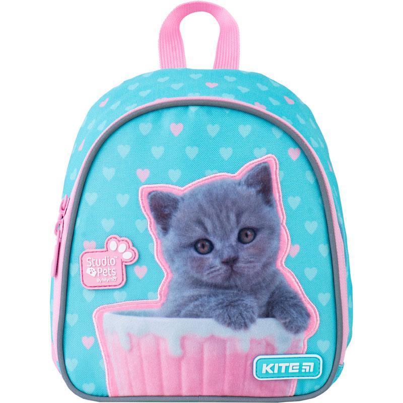 Рюкзак Kite Kids Studio Pets 150 г 22х20х9 см 3.25 л Бирюзово-розовый (SP21-538XXS)