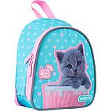 Рюкзак Kite Kids Studio Pets 150 г 22х20х9 см 3.25 л Бирюзово-розовый (SP21-538XXS), фото 2