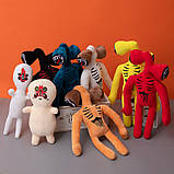 Сиреноголовый мягкая игрушка 40см разноцветные Siren Head (Кодовое название SCP-6793) красного цвета, фото 4