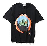 Футболка с рисунком и надписью Кактус Джек Fortnite Playstation мужская летняя оверсайз удлиненная молодежная