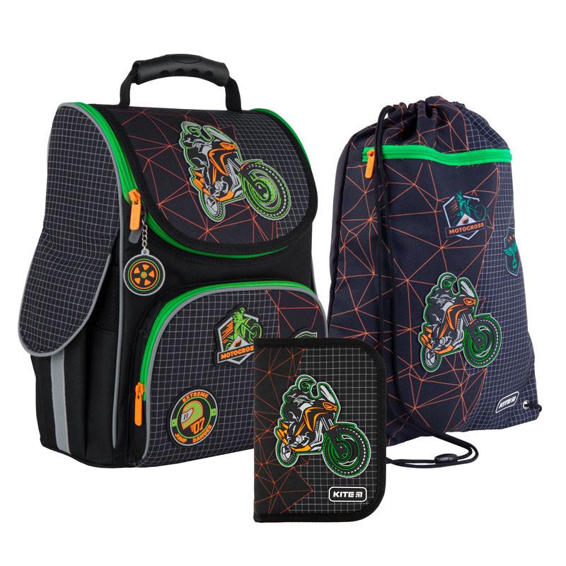 Школьный набор Kite Education Рюкзак каркасный 35х25х13 11.5 л + пенал + сумка для обуви (SET_K21-501S-2)