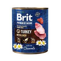 Brit Premium by Nature 800 г индюшатина с индюшиной печенью