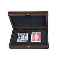 "CXL20 карти ""Manopoulos"", в деревянном футляре, венге, 24х17см, 1 кг"