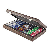 """PXL20.300 набор для покера """"Manopoulos"""", в деревянном футляре 39х22см, 5 кг"""