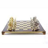 """S11RED шахматы """"Manopoulos"""", """"Греко-римские"""",латунь, в деревянном футляре, красные, 44х44см, 7,4 кг"""
