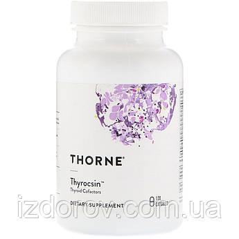 Thorne Research, Thyrocsin, кофакторы для щитовидной железы, Thyroid Cofactors, 120 капсул