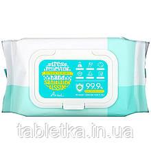 Ariul, серветки для дезінфекції рук, ефективність 99,9%, алое віра, 80 шт.