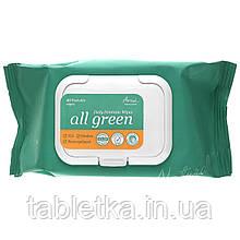 Ariul, All Green, Daily Feminine Wipes, 40 Flushable Wipes