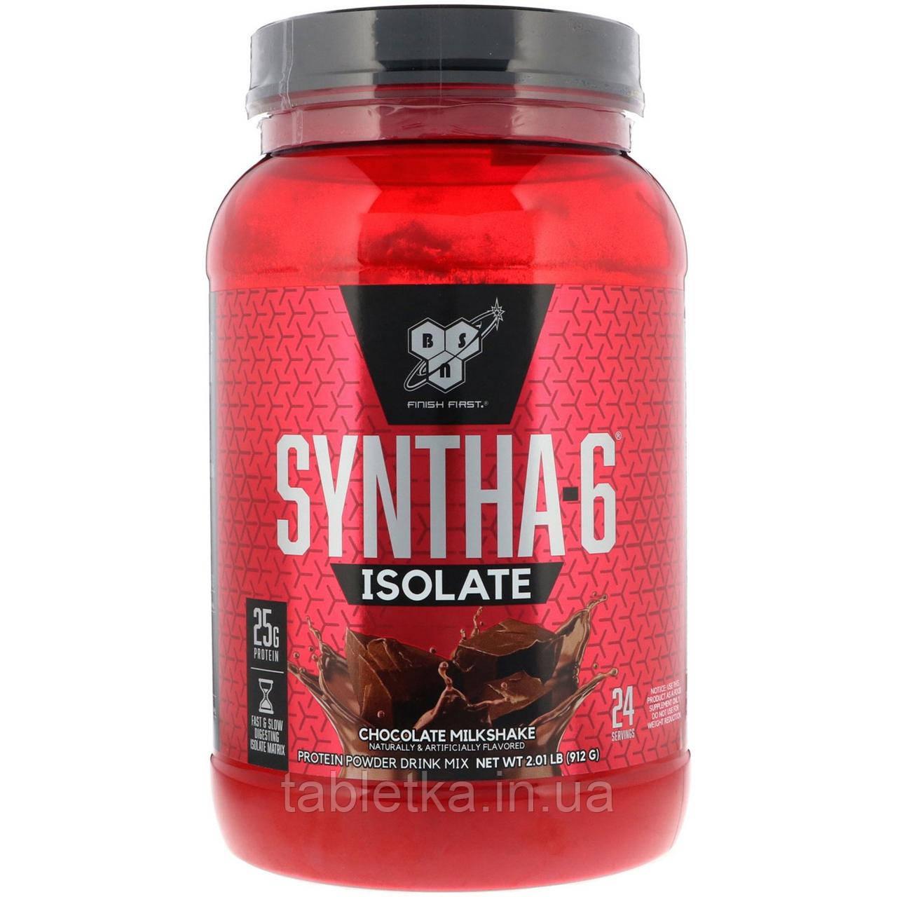 BSN, Syntha-6 Isolate, белково-порошковая смесь для напитков со вкусом шоколадного молочного коктейля, 912 г