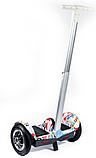 Гироскутер сігвей з ручкою SMART A8 10 дюймів Білий самобаланс | гироборд дитячий Смарт (Bluetooth колонка), фото 5