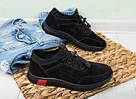 Кроссовки детские Kangfu замша, черные, размер 39