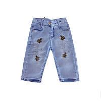 Бриджи для девочки джинсовые 128-152 (8-12 лет) арт.20007