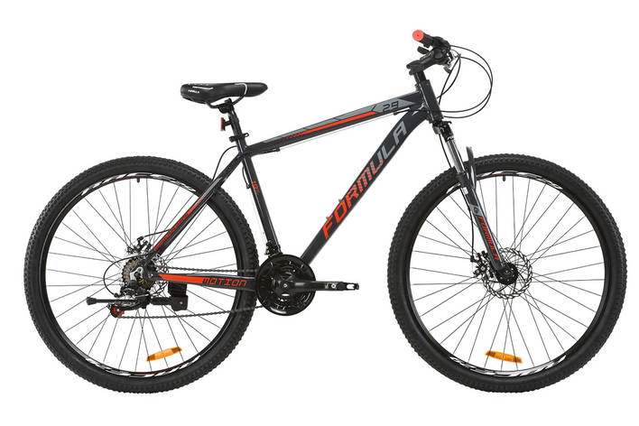 """Велосипед горный 29"""" Formula Motion DD 2020 рама  19"""" серый с красным, фото 2"""