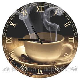 Годинники настінні круглі, 36 см Coffee