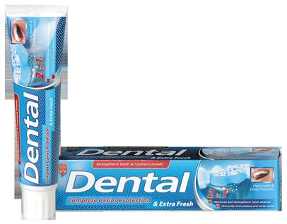 Зубная паста Dental Болгария Защита от кариеса и свежее дыхание 100мл