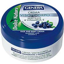 Крем для лица и тела Genera Dolce Natura Crema с экстрактом черники и витамином E, 160 мл
