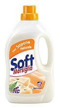 Рідкий засіб для прання SOFT Італія Марсельське мило 16 прань 1л