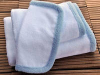 Детское полотенце от  Hamam Baby Child 75х75 бело-голубое, фото 1