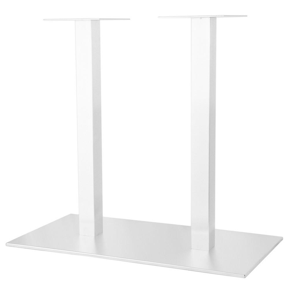 "Белая опора для стола в ресторан ""DUO"" ножки из металла"