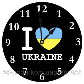 Годинники настінні круглі, 36 см Люблю Україну