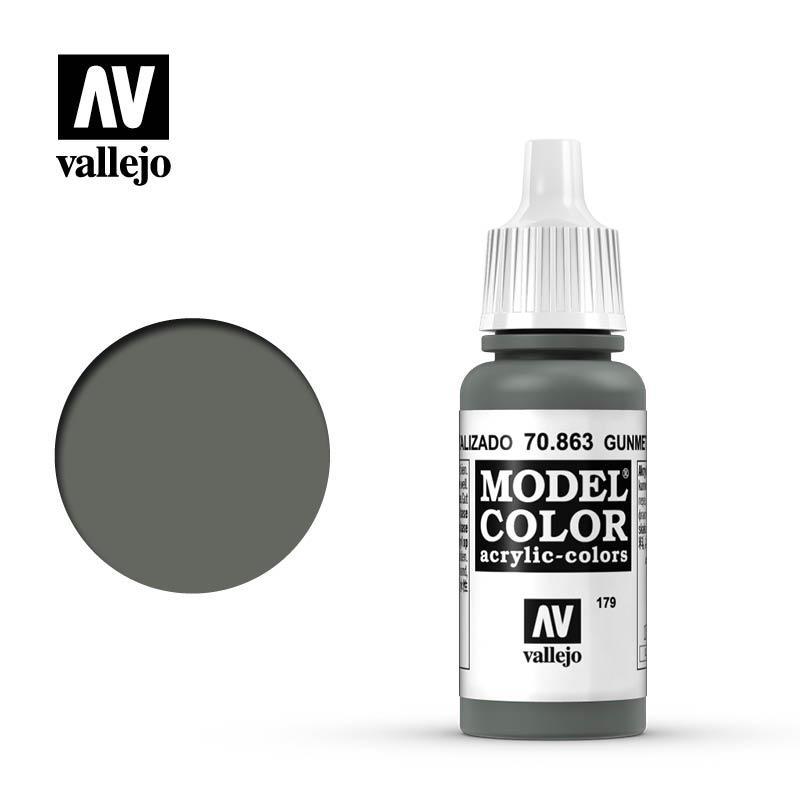 Vallejo Model Color Gunmetal Grey