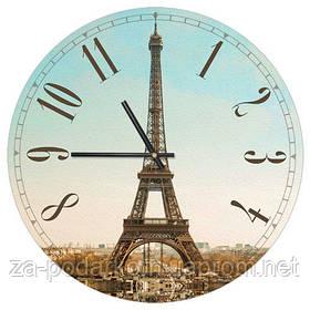 Годинники настінні круглі, 36 см Эйфелева вежа